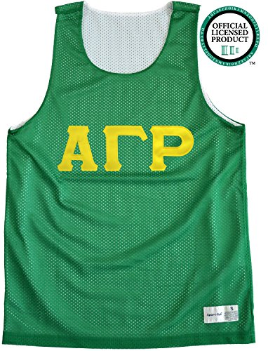 ALPHA GAMMA RHO Unisex Mesh AGR Tank Top. Gold Sewn Letters, Various Colors