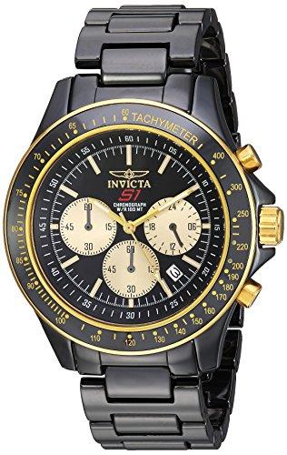 Invicta Men's S1 Rally Quartz Watch with Ceramic Strap, Black, 22 (Model: 23838) (Invicta Ceramic)