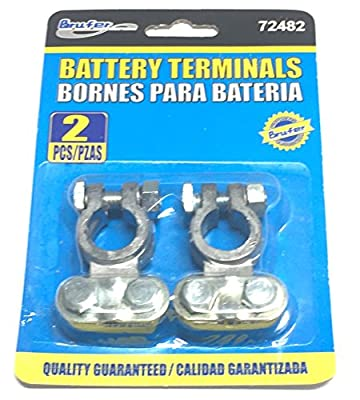 BRUFER Top Post Battery Terminals, (PAIR)