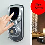 Keyless Smart Security Electronic Touch screen Keypad Deadbolt Door Lock without Motor Home Use Entry 6600-101A Silver