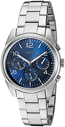 DKNY Women's 'Crosby' Quartz Stainless Steel Casual Watch, Color:Silver-Toned (Model: NY2470)