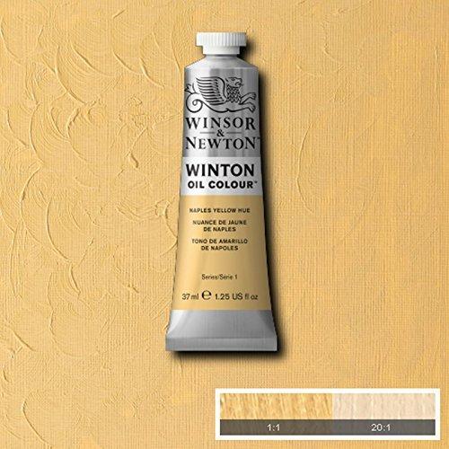 Winsor & Newton Winton Oil Paint Tube Artist Art 37ml & 200ml ALL COLOURS (Naples Yellow Hue, 200ml)