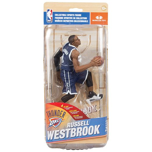 Mcfarlane NBA Series 29 Russell Westbrook Oklahoma City Thunder Silver Collector Level Blue Uniform Limited to 1,000