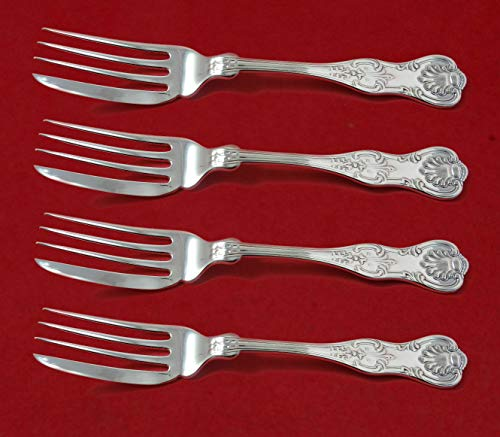 King by Dominick and Haff Sterling Silver Fish Fork Set 4pc AS Custom 6 - & King Dominick Haff