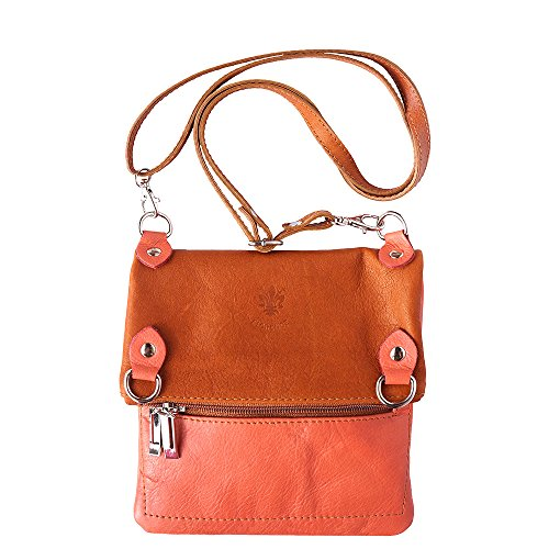 Shoulder Bag Genuine And Soft Leather-tanning 408 Salmon