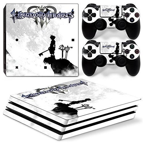 ZoomHit Ps4 PRO Playstation 4 PRO Console Skin Decal Sticker Kingdom Hearts + 2 Controller Skins Set (Pro Only)