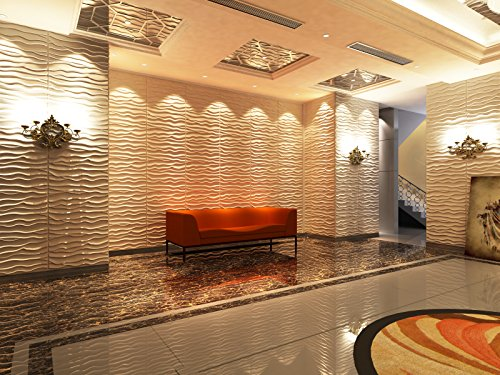 3D Textured Decorative Architecture Display Wall Panels,Eco Friendly Modern Wall Decor, Plant Fiber Paintable Interior Wall - Wall Panels Textured 3d