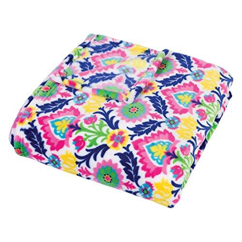 Trend Lab Plush Multi Waverly Throw Blanket, Santa - Stores Maria Santa
