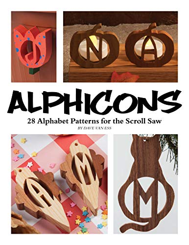 Scroll Heart - Alphicons: 28 Alphabet Patterns for the Scroll Saw (Fox Chapel Publishing) Ready-to-Cut Artistic Letters to Customize Any Woodworking Project; Themes Include Leaves, Chess, Hearts, Pumpkins, and More