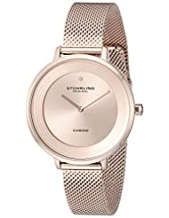 Stuhrling Original Women's 589.04999999999995 Symphony Analog Display Quartz Rose Gold Watch