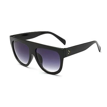 Gafas de sol grandes de DODO®, con la parte superior plana y protección de sombra, de estilo retro, para mujer