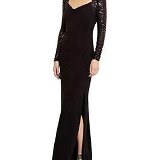 Lauren Ralph Lauren Embellished Lace & Draped Jersey Gown at Amazon ...