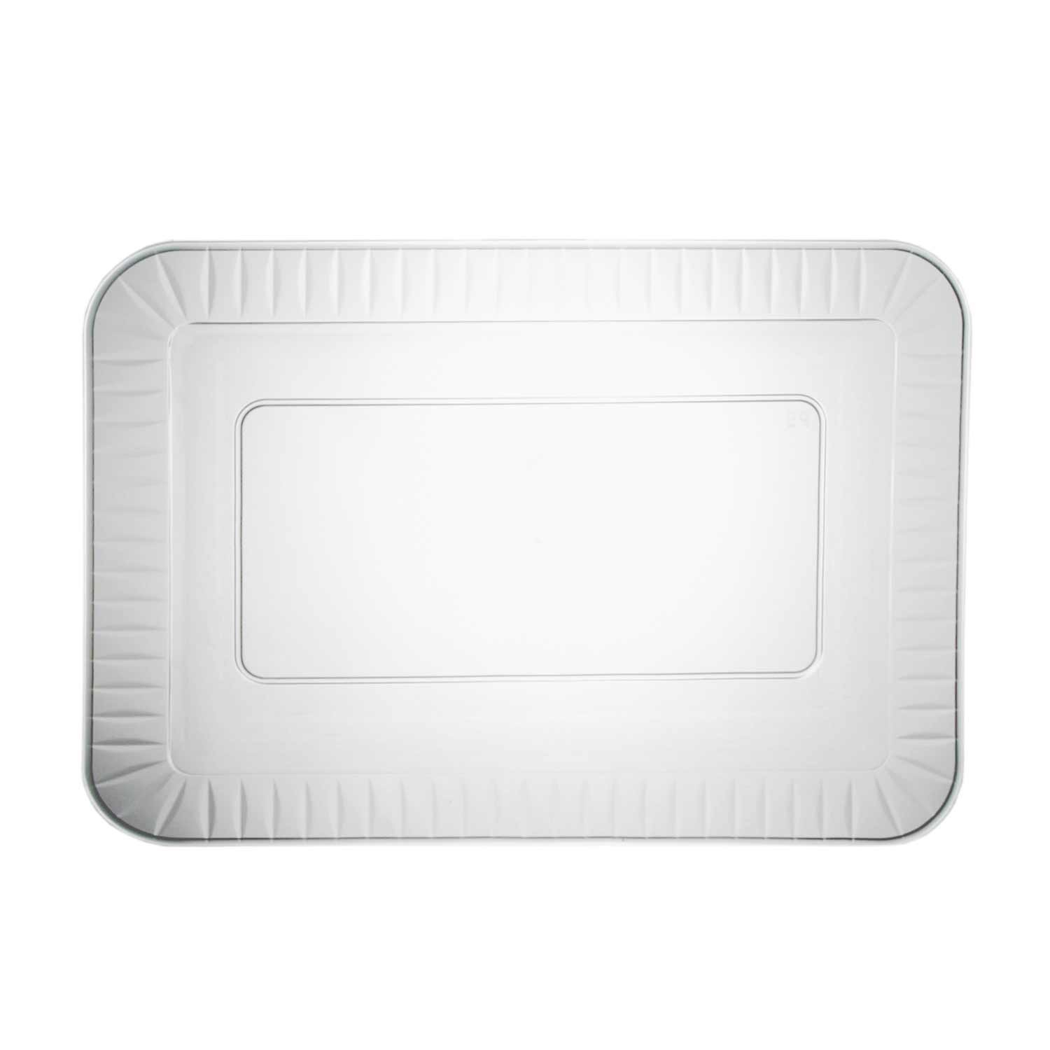 Party Essentials Elegance Quality Hard Plastic 5 x 7-Inch Rectangular Appetizer Plates, Clear, 24 Count