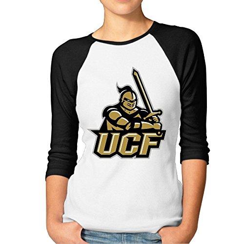 Yesher Women's UCF Knights 3/4 Sleeve Baseball Jersey Shirts - - Galaxy Game La Pre Jersey