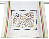 Catstudio America Dish Towel | Patriotic Gift Featuring Original Artwork Celebrating the Sights, History and Landmarks of the United States of America