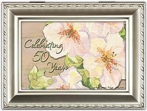 Celebrando 50 años aniversario de champán plateado caja de música/Joyero reproduce Moon River