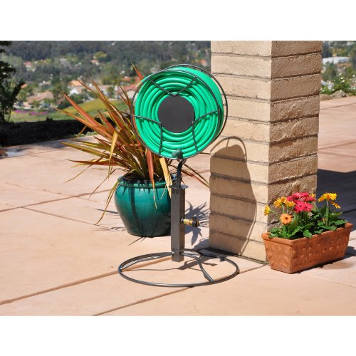 Amazon.com Yard Butler ISRPB 360 Free Standing Hose Reel With Patio Base Garden  Hose Reels Garden U0026 Outdoor Sc 1 St Amazon.com