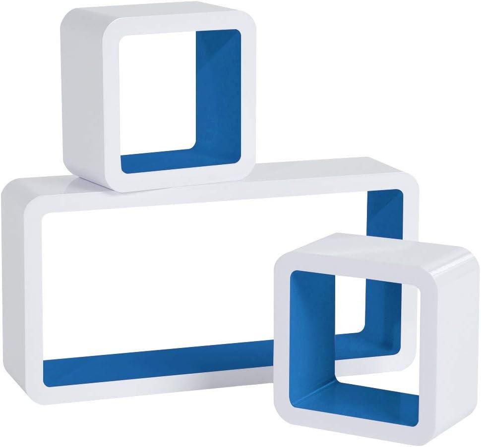 Woltu Rg9229dbl Wandregal Cube Regal 3er Set Bucherregal