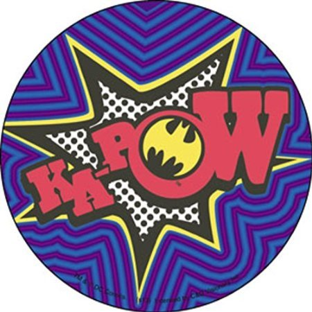 Licensed DC Comics Originals Batman (KA-POW) 4' Round Sticker/Decal 4' Round Sticker