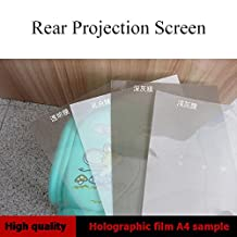 Holographic Projection Film A4 Samples Rear Projection Film 4 PCS 4 Color