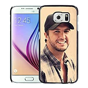 Fashionable Custom Designed Skin Case For Samsung Galaxy S6 With Luke Bryan Black Phone Case