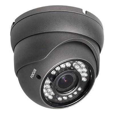R-TECH RVD70B-HD 1000TVL Dome Security Camera Dark Gray - Outdoor - Night Vision - 2.8-12mm Lens