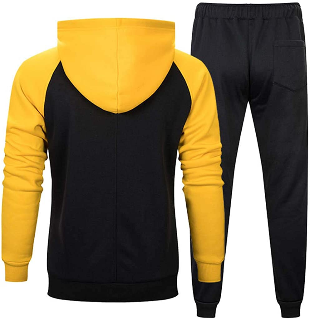 Fanteecy Mens Cozy Hoodie and Pants Hooded Coat Jacket Trousers Joggers Casual Sports Tracksuit Sweatsuit