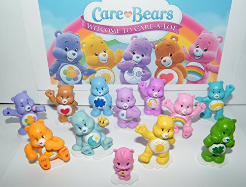 Care Bears Set - Care Bears Deluxe Figure Set of 12 with Baby Wonderheart Bear, Harmony Bear, Good Luck Bear, Wish Bear, Share Bear and Many More!