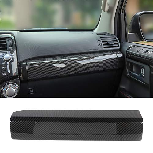 JeCar Co-Pilot Passenger Decoration Trim ABS Interior Accessories for Toyota 4runner SUV 2010-2019, Carbon Fiber Texture