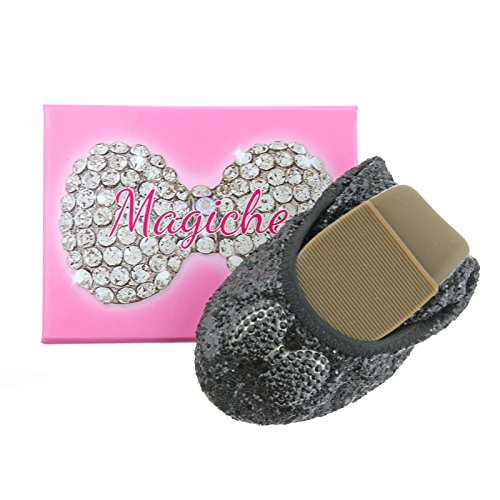 Lelli Kelly LK8390 (LB01) Nero Glitter Bow Magiche Shoes-36 (UK 3)