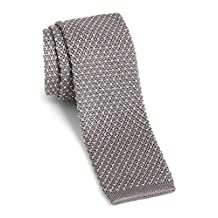 Hugo Boss Men's Knit Silk Tie, OS, Grey