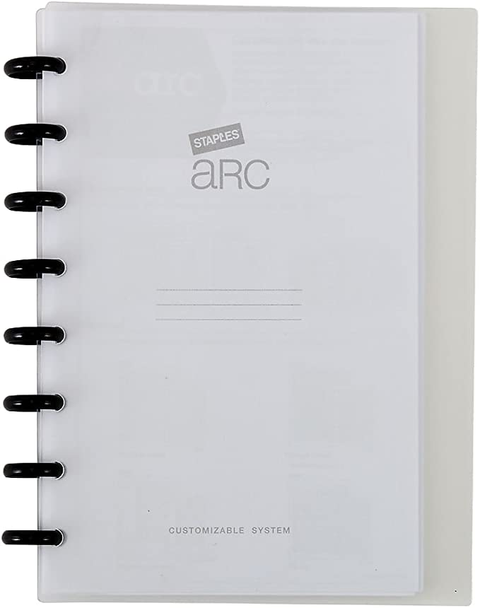 Staples 2724780 Arc Customizable Notebook System 8-1//2-Inch x 11-Inch Black Saffiano Each