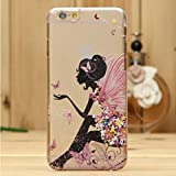 iPhone 6S Case,iPhone 6 Case,FEIKESI iphone 6/6S Protective Case Soft Flexible TPU Transparent Skin Scratch-Proof Case for iPhone 6/6S(4.7-inch)-Butterfuly Girl#5
