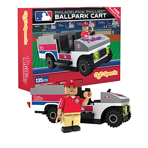 (OYO MLB Philadelphia Phillies Buildable Ballpark Cart, Small, White)