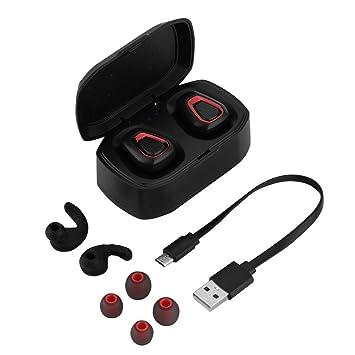 VBESTLIFE Mini Auriculares Twins Bluetooth Verdadero Estéreo HiFi Inalámbricos Auriculares Internos con Micrófono Cancelación de Ruido,con Caja de Carga ...