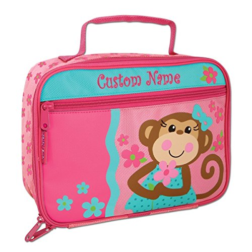 Personalized Classic Pretty Monkey Lunch Box - CUSTOM NAME Monkey Lunch