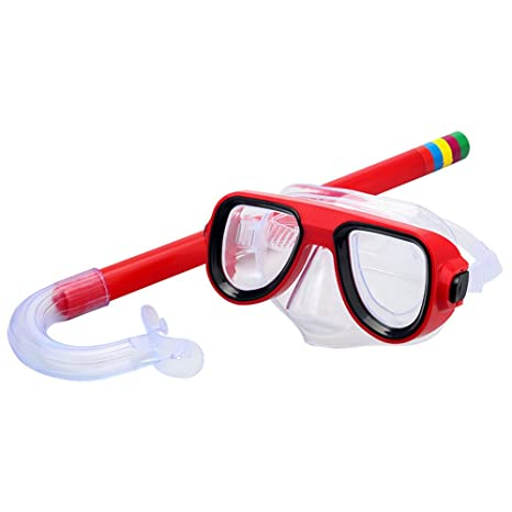 Skl Kids Snorkel Set Children Recreation Mask Snorkel Set Kids Silicone Scuba Diving Snorkeling Glasses Set For Boys And Girls Age 5 Plus by Skl