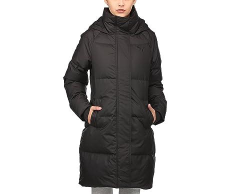 457cc9825266 Puma Womens Womens 450 Hooded Down Coat in Black - 12  Puma  Amazon.co.uk   Clothing