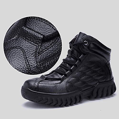 Alla Pelliccia Scarpe Lain In Black 43 Uomo Boot Stivali Con 39 Caviglia Calda Stivaletti Impermeabile Inverno Pelle Gomma wxF1RqpP