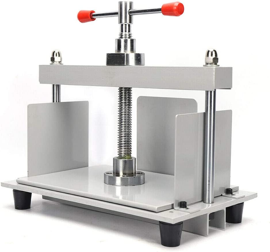 Bookbinding Kit Machine A4 Steel Notes Invoice Bookbinder Press Screw for Photo Nipping Booklets Checks Receipt Flattening Papermaking Shaping Machine