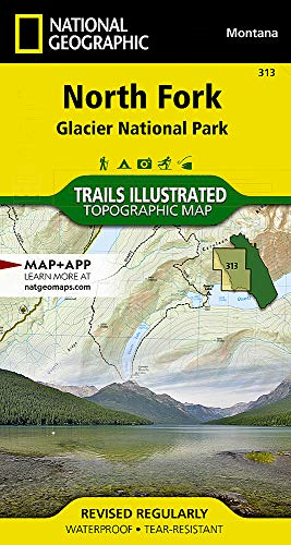 North Fork: Glacier National Park (National Geographic Trails Illustrated Map)