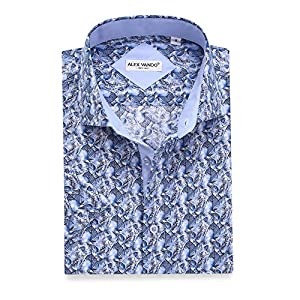 Alex Vando Mens Dress Shirts Casual Regular Fit Short Sleeve Shirts 15