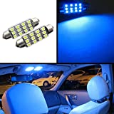 2001 silverado interior trim - FLA 42mm D42 FESTOON 12-SMD LED Bulbs High Power 3528-SMD Chip License Interior Trim Accent Dome Map Bright (Blue)