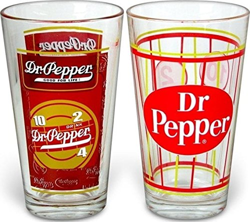 Creedence S Dr. Pepper - Retro Style Pint Glasses: Set of 2, one size
