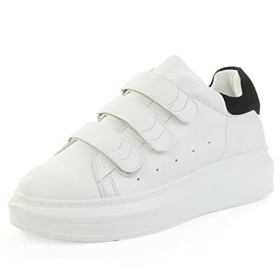 2016White shoes/Velcro shoes/Shoes/Within the higher platform shoes/Sports running shoes