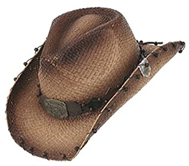 Peter Grimm Ltd Unisex Revelation Raffia Straw Cowboy Hat Brown One Size 2934fd3fc92