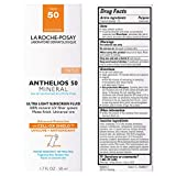 La Roche-Posay Anthelios Tinted Mineral Ultra-Light Fluid Broad Spectrum SPF 50, Face Sunscreen with Zinc Oxide and Titanium Dioxide, Oil-Free, 1.7
