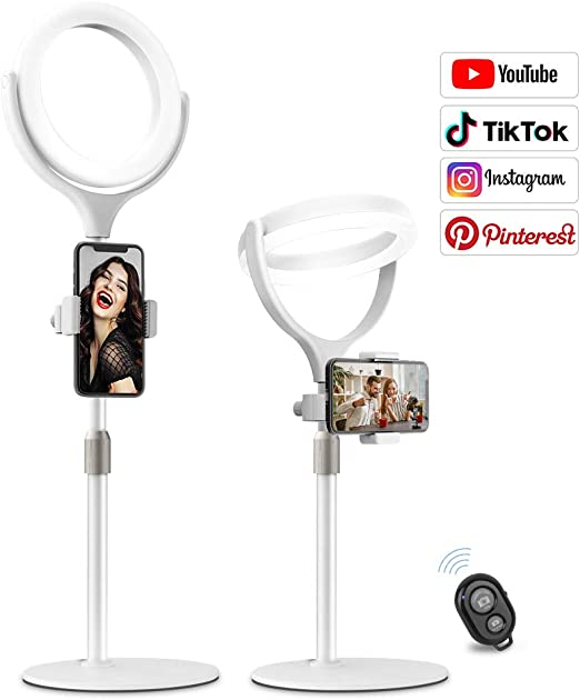 Amazon Com 8 Selfie Ring Light For Video Conference Recording