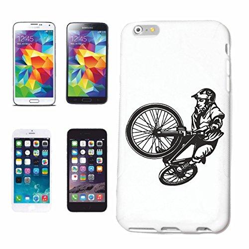 """cas de téléphone iPhone 7S """"BMX VÉLO STREET FREESTYLE MOTOCROSS BIKE FREESTYLE Chopper MOUNTAINBIKE"""" Hard Case Cover Téléphone Covers Smart Cover pour Apple iPhone en blanc"""
