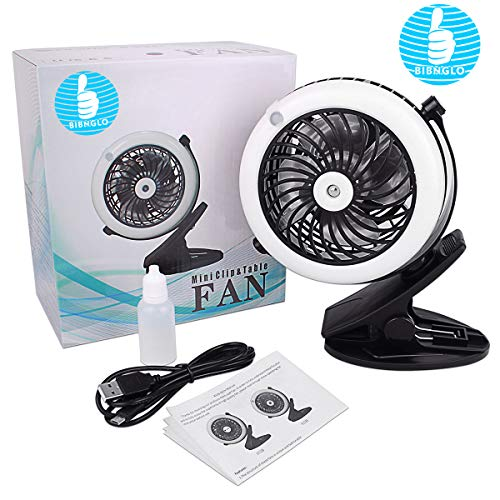 Misting Fan, Portable 2 in 1 Clip On USB & Battery Operated